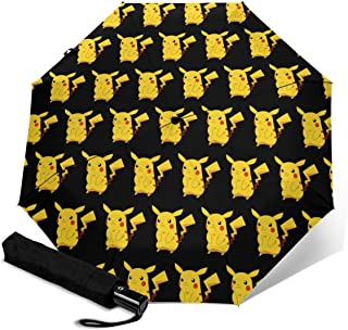 精灵宝可梦 折叠伞 一键自动开合 【最新版&2重构造】耐强风 超防水 210t高强度玻璃纤维 防紫外线 隔热 坚固的带伞套