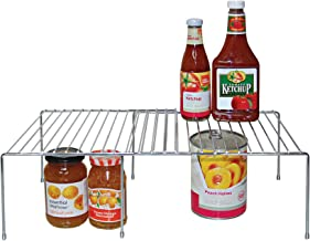 REAL HOME Innovations Expandable Large Cabinet Shelf, Chrome