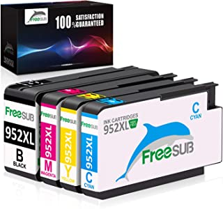 FreeSUB Compatible Ink Cartridge Replacement for HP 952XL 952 XL Work for OfficeJet Pro 8710 8720 7740 8740 8210 8730 7720 8216 8700 8702 8715 8725 8727(1 Black 1 Cyan 1 Magenta 1 Yellow)