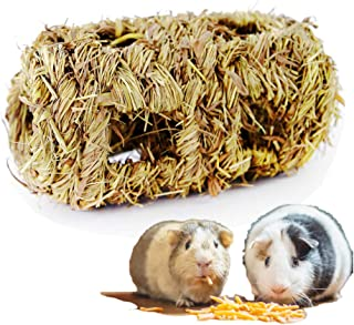 simoce Handmade Edible Natural Grass Bell Play Ball/Holey Nest/Holey Tunnel for Rabbit, Hamster, Guinea-Pig or Chinchilla, Chew Toy for Small Animals.