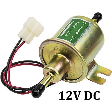 Elektrische Kraftstoffpumpe Universal 12V Gas Inline Auto Elektrische Kraftstoffpumpen/ö l f/ü r Diesel Benzinmotoren Gold Winbang