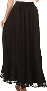 cotton maxi skirts uk
