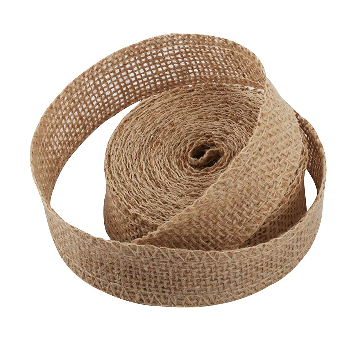 Pure Handmade Mesh Burlap Wedding Ribbon 5Yards X 1Inch for Banquet Floral Decorations Holiday Design