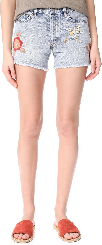 SIWY Women's Avery Denim Boy Shorts, View from a Bridge, 23