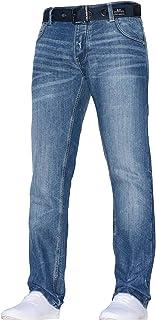Pantalones Vaqueros clásicos de Corte Recto para Hombre, Estilo Vaquero, Todos los tamaños de Cintura