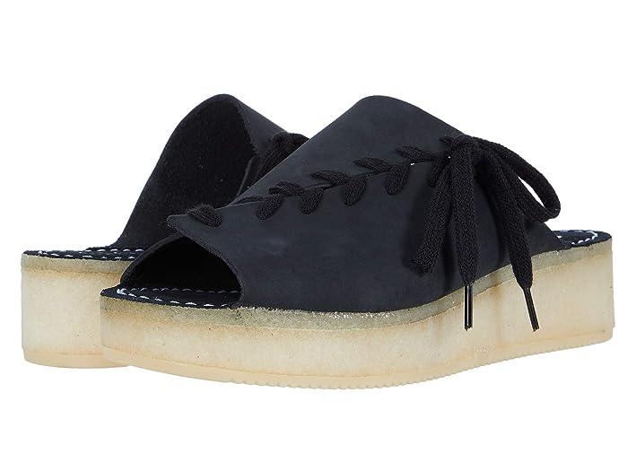 Clarks  Wallacraft Open (Black Nubuck) Womens Shoes