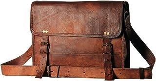 CH Men's Auth Real Leather Messenger Bags Laptop Briefcase Satchel Mens Bag