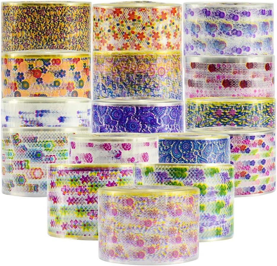 16 Rolls Nail Art Flower Beauty Transfer Adhesive 120 2021new shipping free shipping San Francisco Mall Sticker 3D