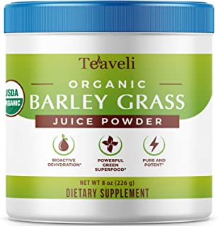 Premium Organic Barley Grass Juice Powder– 8 Ounces (226g) of Delicious Barley Grass Juice Extract, & Green...