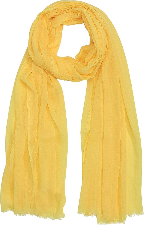 Echo New York Solid Soft Crinkle Wrap Scarf Banana