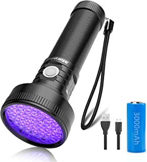 Sponsored Ad - Black Light, morpilot 51 LED UV Flashlight Rechargeable Blacklight Torch Light Pet Urine Detector for Dry D...
