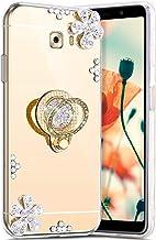 Robinsoni Hoesje compatibel met Galaxy C9 Telefoonhoes, flexibel Galaxy C9 Pro hoesje Sparkle siliconen hoesje TPU Diamond...