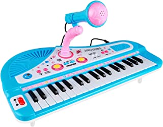 ZJTL 61-Key Digital Electric Piano Keyboard & microphone- Portable Electronic Keyboard (Kids & Adults) MQ-6112