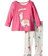 Joules Kids Long Sleeve Top and Frill Leggings Set (Infant)