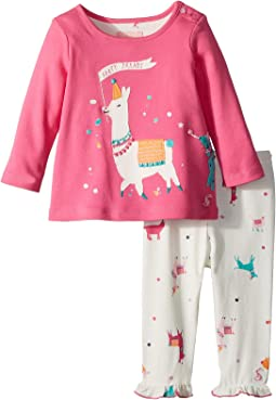 Joules Kids - Long Sleeve Top and Frill Leggings Set (Infant)