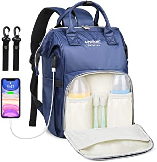 Diaper Bag Backpack,Multifunction Travel Backpack Maternity Baby Nappy Changing Bags with USB Charging Port