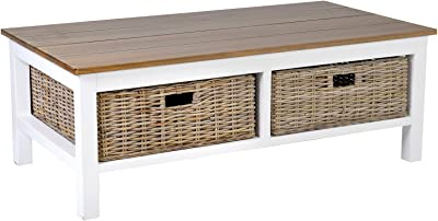 "East at Main Donna Coffee Table, 49"" X 26"" X 18"", Brown"