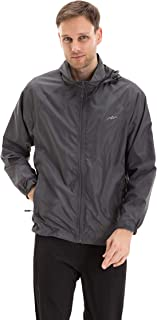 Men's Water Resistant Lightweight Windbreaker Hooded Jacket