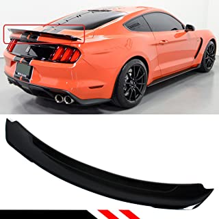 Cuztom Tuning Fits for 2015-2019 Ford Mustang Track Pack Style ABS Gloss Black Trunk Spoiler Wing Lid