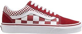 Vans UA Old Skool, Men's Shoes, White ((Mix Checker) chili pepper/true white VK5), 7.5 UK (41 EU) (VA8G1_VK5)