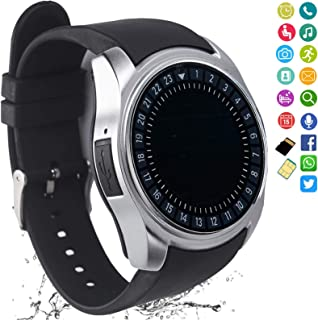 FashionLive Smart Watch Bluetooth Smartwatch Touch Screen Unlocked Phone Camera Pedometer Text Call Sports Fitness Activity Tracker for Women Men