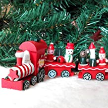 Trenino Natalizio con Slitta di Babbo Natale a Batteria Decorazione Base Albero