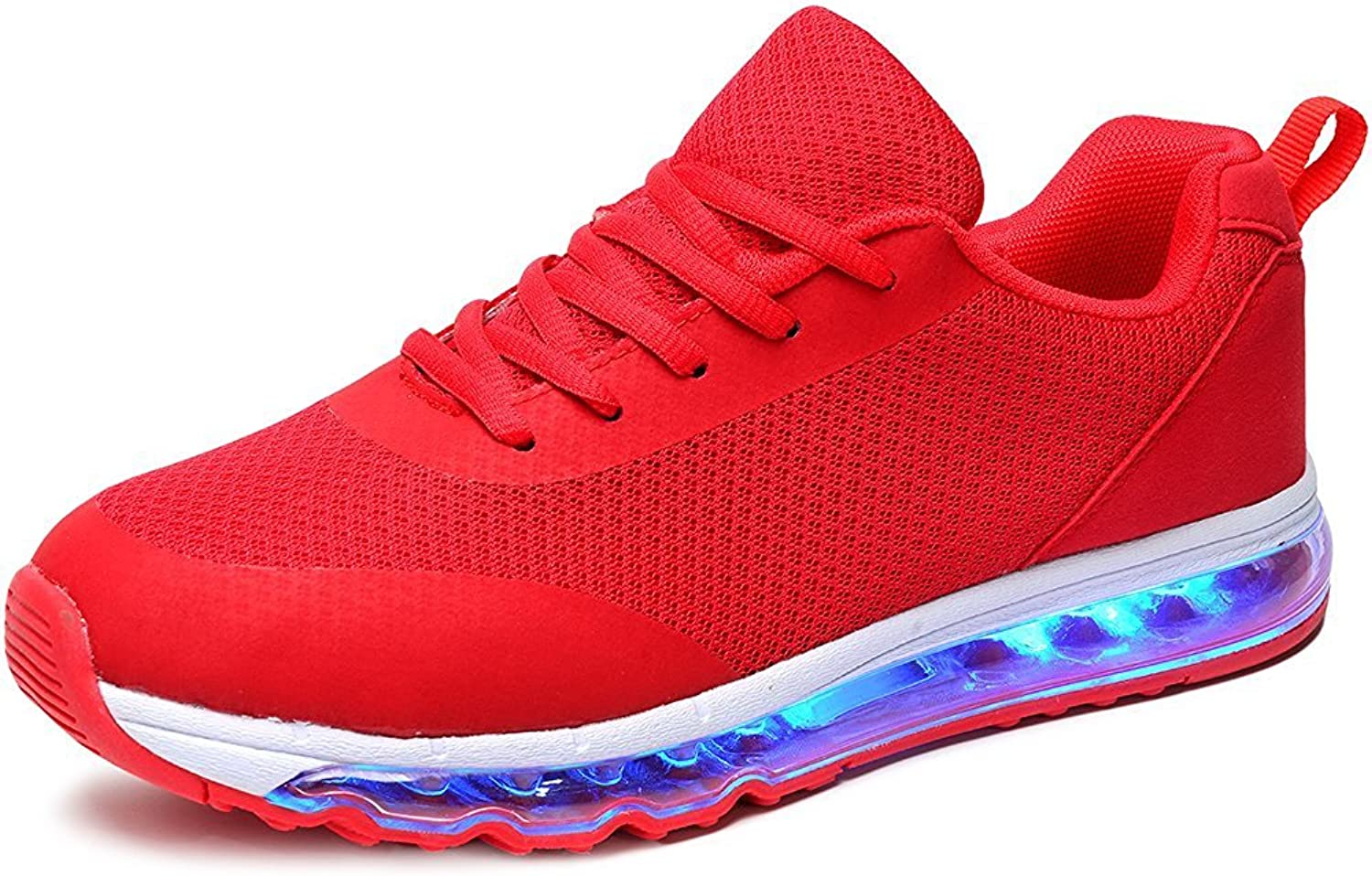 Sexphd Light Up USB LED Sneakers Mesh Low Tops Kids Adults