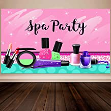 Allenjoy 5x3ft Sparkle Spa Party Backdrop Colorful Make Up Teens Girls Princess Summer Holiday 1st First Sweet 16th Birthd...