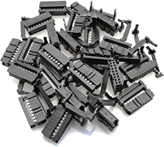 Tegg 25PCS FC-16P IDC Socket Connector Female 2x8 Pin Female Header Rectangular Connector Adapter 2.54mm Pitch for AWG Flat Cable