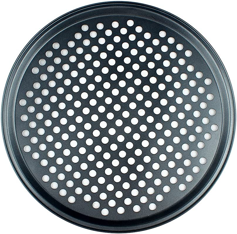 CENZ Nonstick Pizza Vented Pan Teflon Carbon Steel Crispy Pizza Pan With Holes 13 Inch