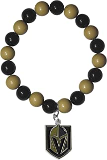 Siskiyou NHL Vegas Golden Knights Womens Sportsfan Bead Bracelet, Black, One Size