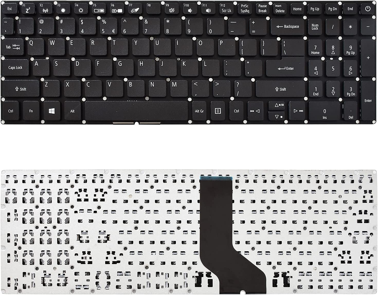 SUNMALL Replacement Keyboard Compatible with Acer Aspire 3 A315-34 A315-41 A315-53.Aspire 7 A715-72G Black US Layout