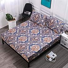 AUXCHENGFCAU Blue Waterproof Mattress Anti-Smash Bed Cover Mattress Cover Washable Multi-Size 12 Color Optional (Color : C...