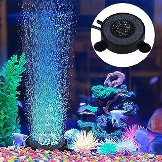 Mobestech 2pcs luz submarina luz acuario luz pecera 6 LED luz de aire sumergible para acuario