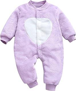 Conjuntos y Conjuntos para niñas, recién Nacido, bebé, niña, niño, vellón, Grueso, cálido, Mono, Mono, Mameluco, Ropa