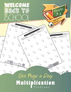 One Page A Day - Multiplication: Grades 3-5, Math Drills, Digits 0-12, Reproducible Practice Problems, Math repetition practice problem