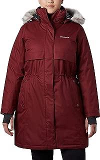 Columbia Women's Apres Arson II Long Down Jacket - Plus Size 1X, Beet