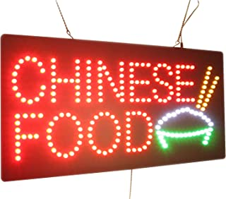 Chinese Food Sign, High Quality LED Open Sign, Store Sign, Business Sign, Windows Sign
