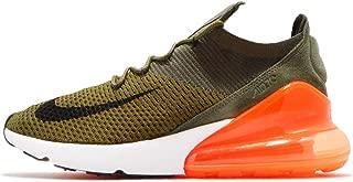 Nike Men's Air Max 270 Flyknit, Olive Flak/Black-Cargo Khaki, 10.5 M US