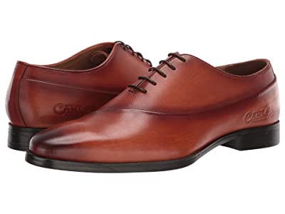 CARLOS by Carlos Santana Coltrane Whole Cut Oxford (Cognac Calfskin Leather) Men