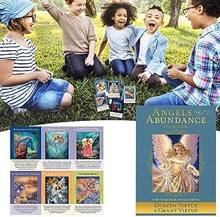 44PCS Angels of Abundance Oracle Cards ガイダンス占い運命ボードゲームカード耐久党の娯楽タロットカード