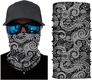 Ulanda Sun UV Protection Neck Gaiter for Men 12 in 1 Multifunctional Headband Seamless Bandana Scarf Headwear (12#)