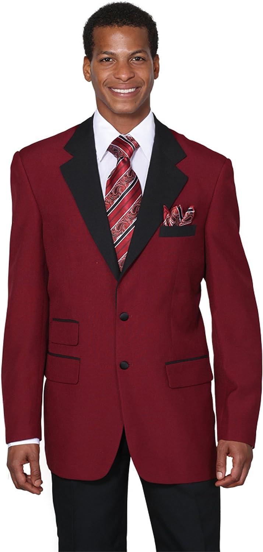 Milano Moda Men's Single Breasted High Fashion Jacket