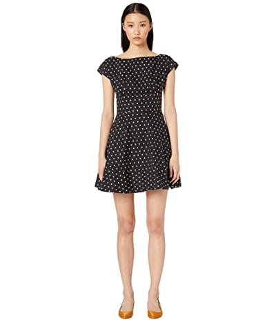 Kate Spade New York Dot Cotton Fiorella Dress (Black/French Cream) Women