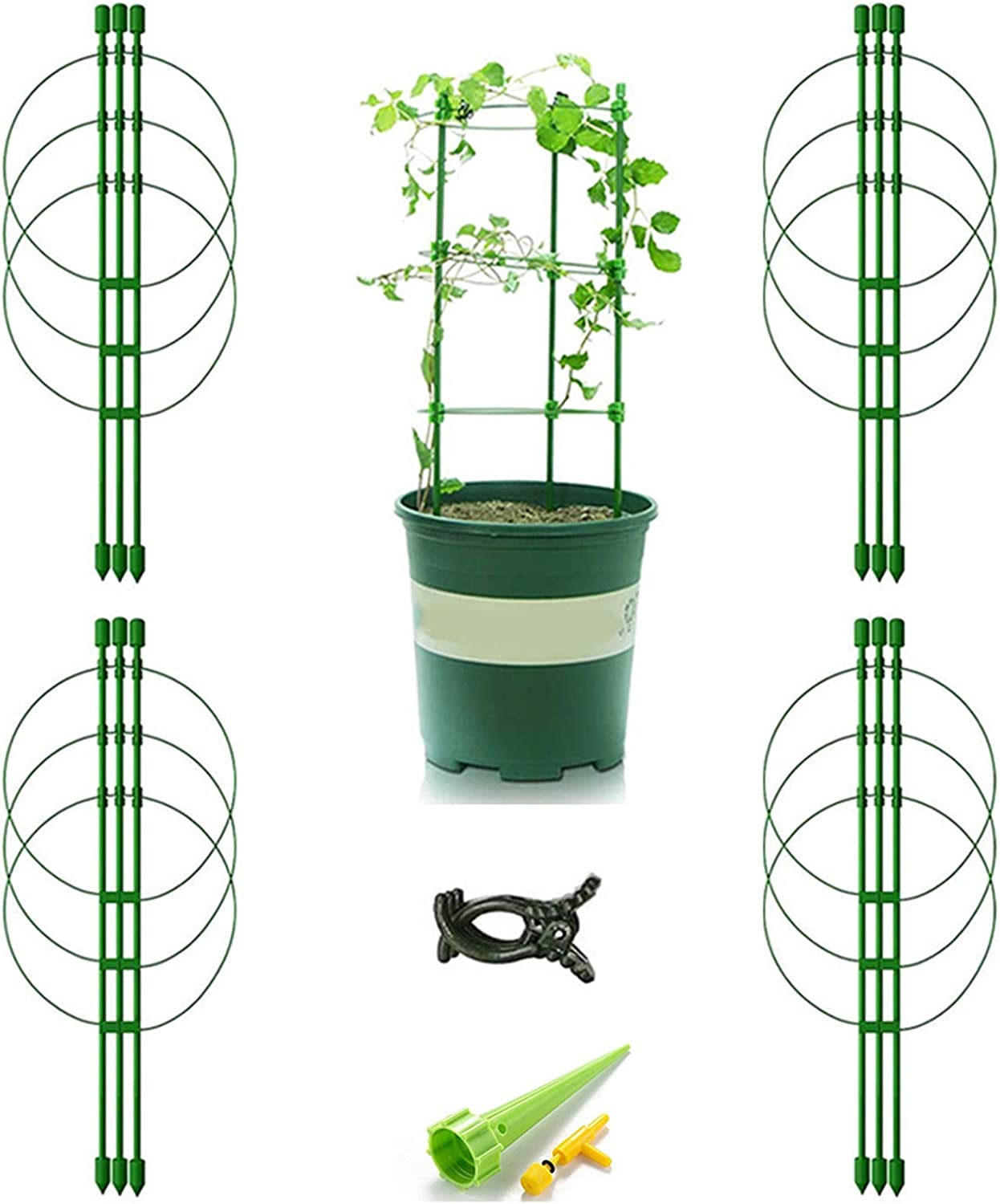 Vitog 4-Pack Tomato Cages for Detroit Mall Garden Plant Popular brand in the world Support Inches 18 Tre