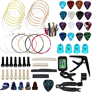 Qukpa 66 PCS Guitar Accessories Kit for Acoustic Guitar...