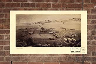 Retro Printing Company Vintage Fort Collins Map, Aerial Fort Collins Photo, Historical Vintage Fort Collins CO, Old Fort Collins Photo, Home Decor, Wall Art