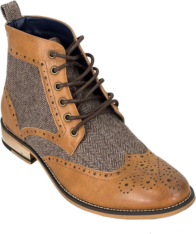 Cavani Sherlock Tan Lace Up Boots