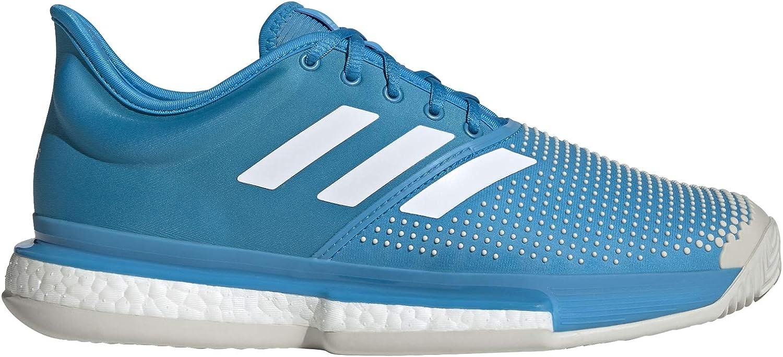 adidas Sole Court Boost Clay Sandplatzschuh Herren - Blau, Weiß - Zapatillas de Tenis Hombre