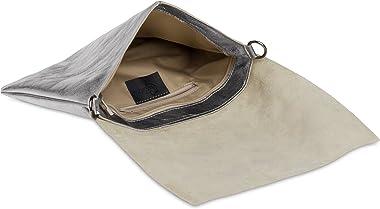Caspar TL770 große Damen Metallic Envelope Leder Clutch Tasche Abendtasche